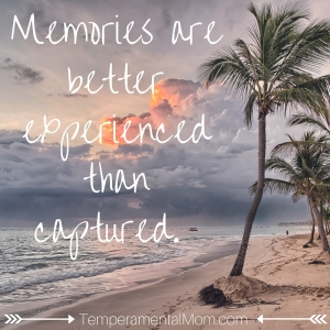 experience memories in person not on the phone